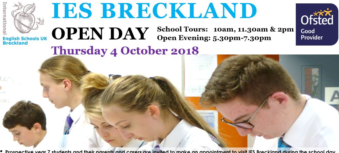 Open Day – 4 October 2018